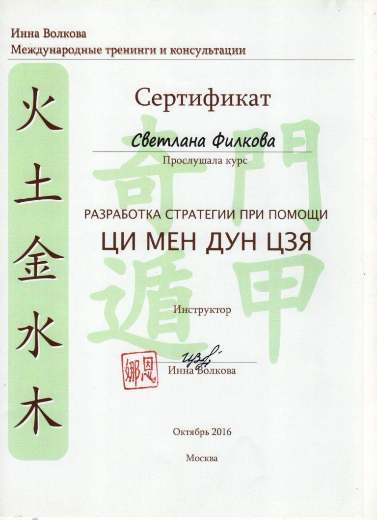 Скан - Сертификат Ци Мен